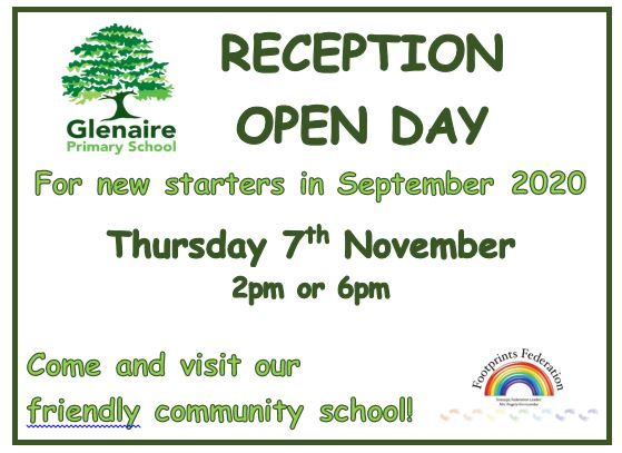 RECEPTION 2020 OPEN DAY